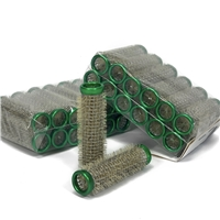 Metal Rollers (15mm) Green 10x 12pack