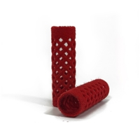155348-Flocked Rollers in Red - 18mm
