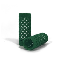 155350-Flocked Rollers (24mm) Green