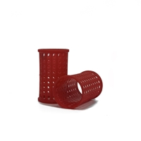 Red Plastic Rollers 40mm x10