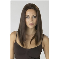 Human Hair Wig Dark Brown Colour 2