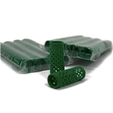 155350-Flocked Rollers (24mm) Green 10x 12pack