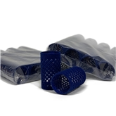 155353-Flocked Rollers (36mm) Blue 10x 12pack