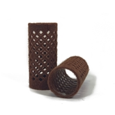 155351-Flocked Rollers (28mm) Brown